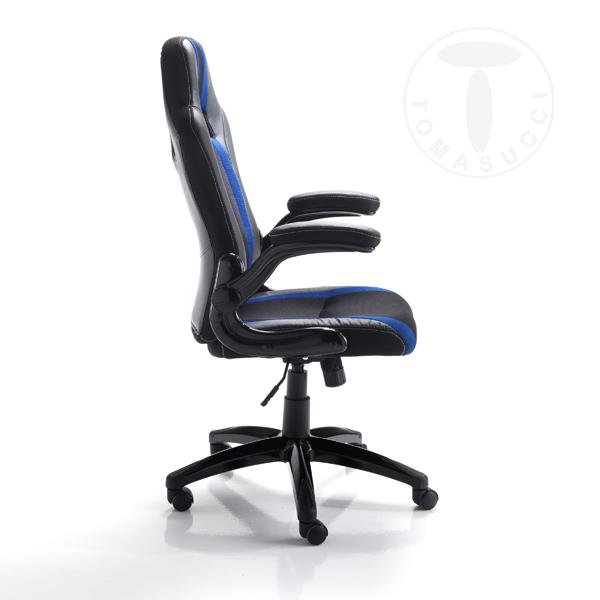poltrona da ufficio TEAM - BLACK & BLUE