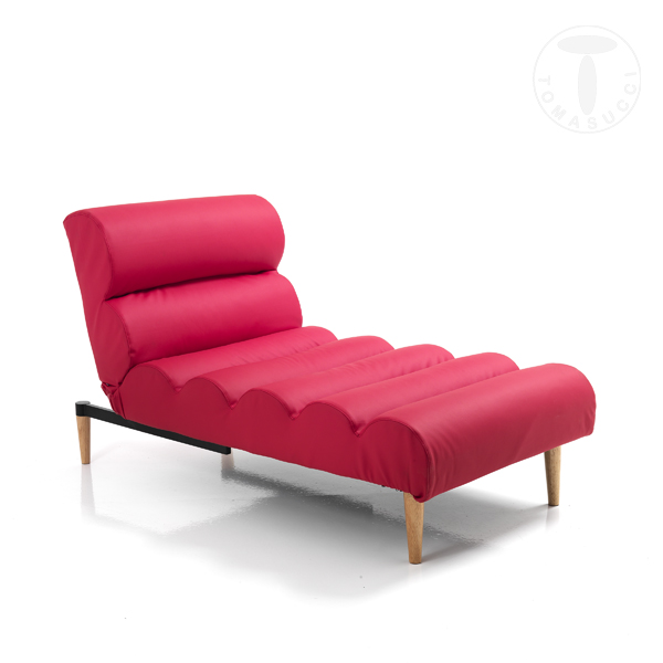 chaise longue / lettino GUMMY RED