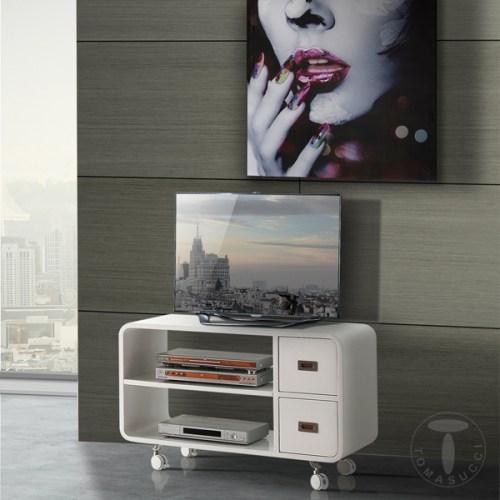 mobili zona giorno : porta tv con ruote plano - Mobili Tv Con Rotelle