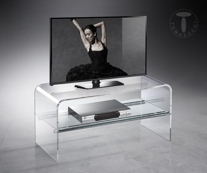 Tomasucci porta tv eclissi metacrilato trasparente 1 - Ripiano porta tv ...