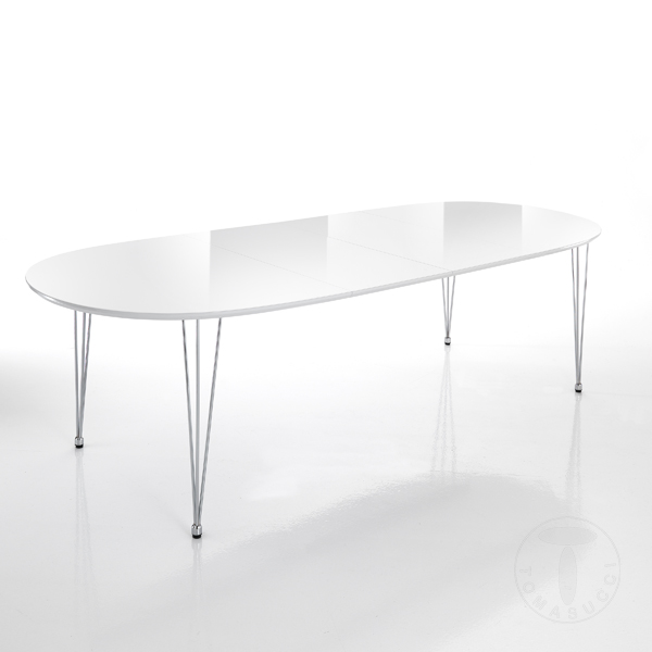 Tavoli fissi e Allungabili : tavolo ovale allungabile ELEGANT