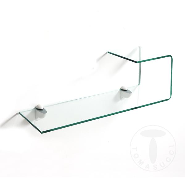 Mensole mensola in vetro curvato liz - Mensole bagno vetro ...