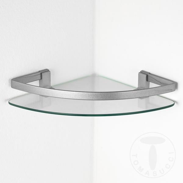 Articoli da bagno mensola in vetro steffani for Mensole curve