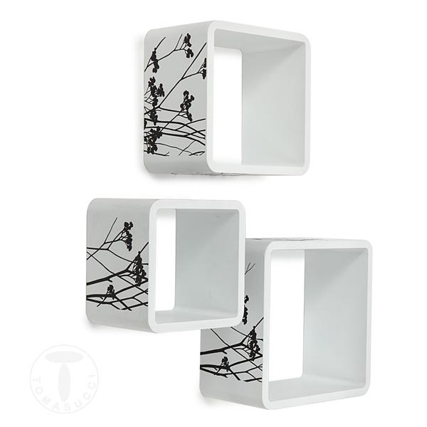 Mensole set 3 cubi da parete juniper for Cubi mensole