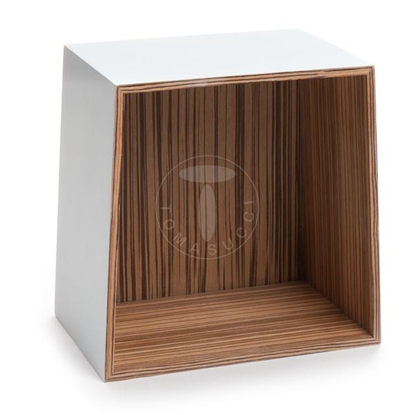 Mensole set 3 cubi da parete trapezio white - Mensole da esterno ...