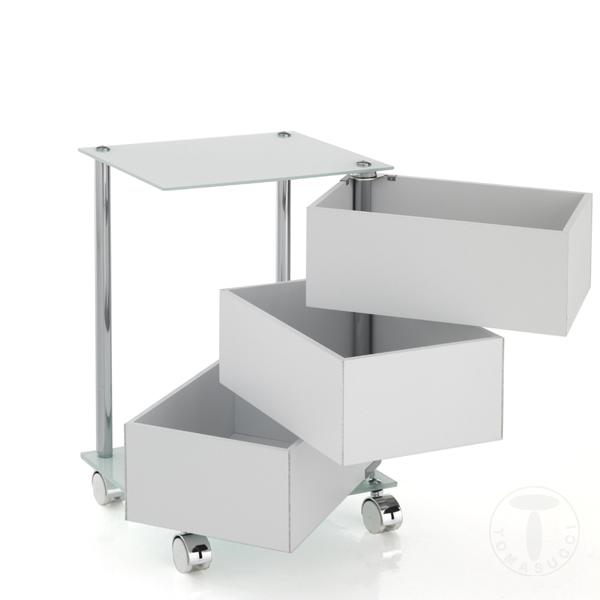 Mobili ufficio cassettiera con ruote bobo - Mobili con ruote ...