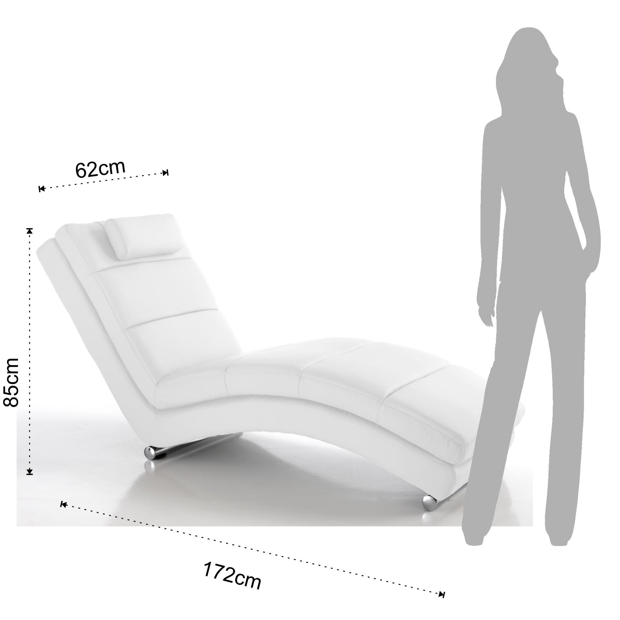 divani chaise longue sofia white. Black Bedroom Furniture Sets. Home Design Ideas