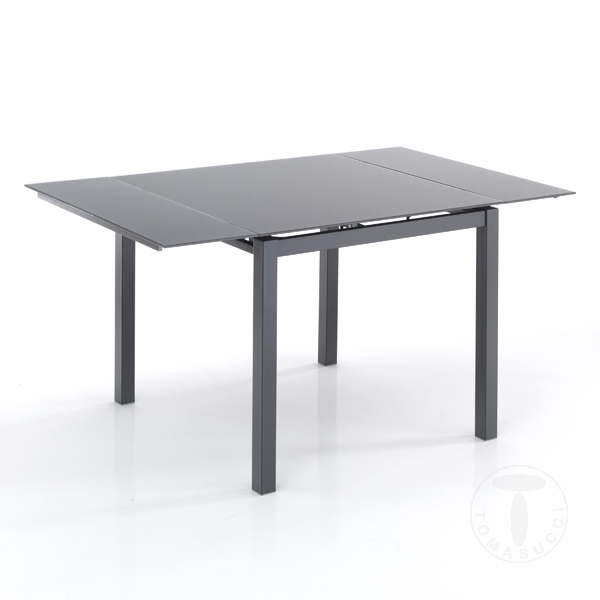 Shoes square extensible table new daily 90 gray for Table 90 extensible