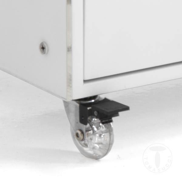 Mobili ufficio cassettiera con ruote kristal - Mobili con ruote ...