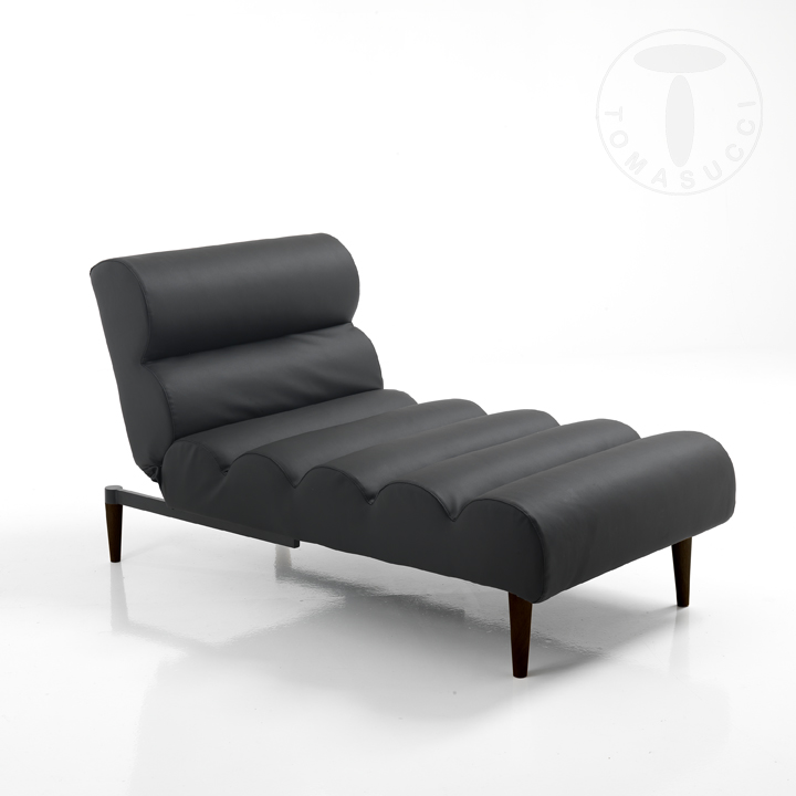 divani chaise longue lettino gummy black