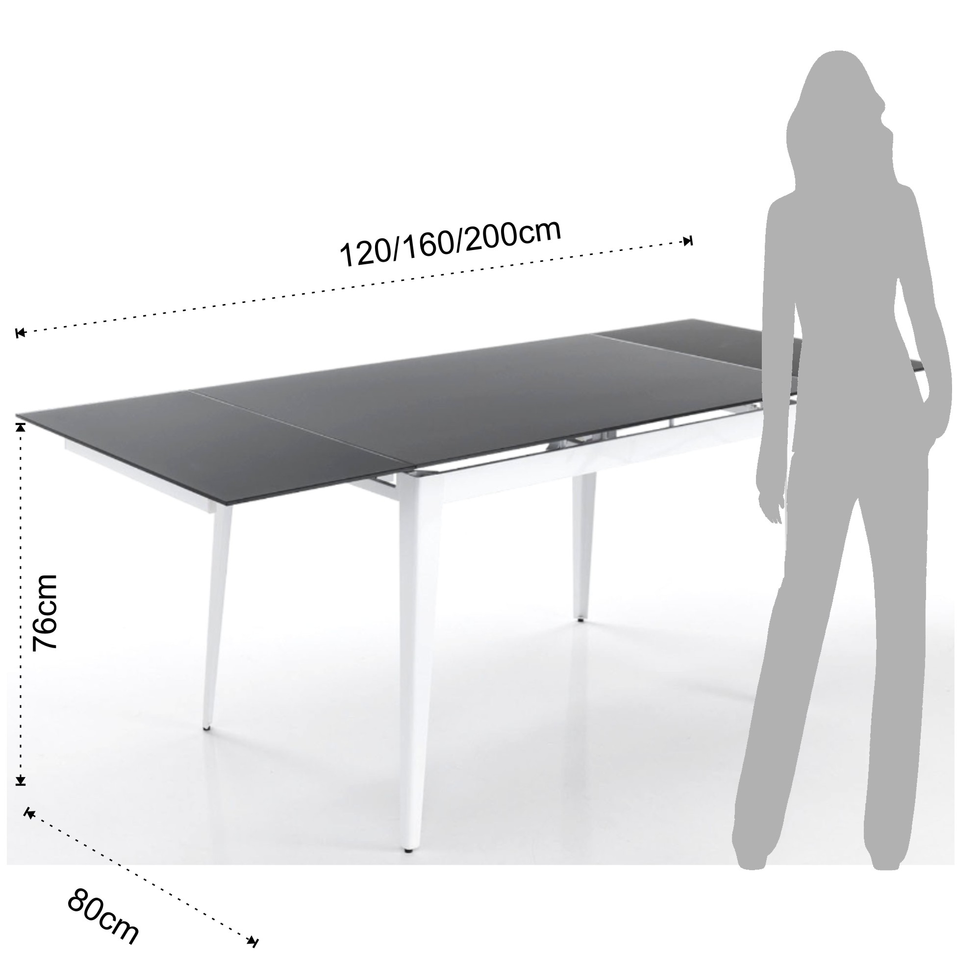 Extensible ShoesOval Table Table Extensible ShoesOval Slate ALR5j4