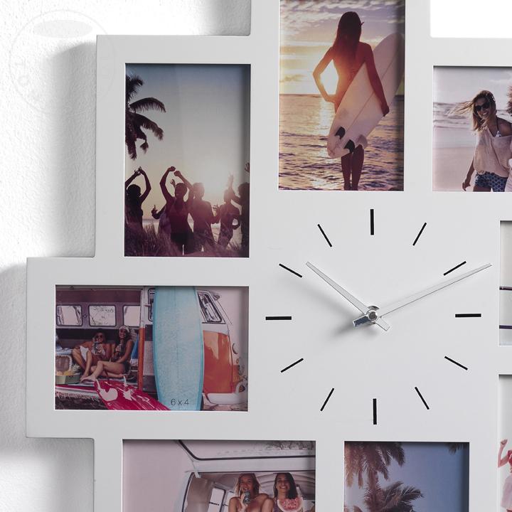 porta foto da parete con orologio OLLY