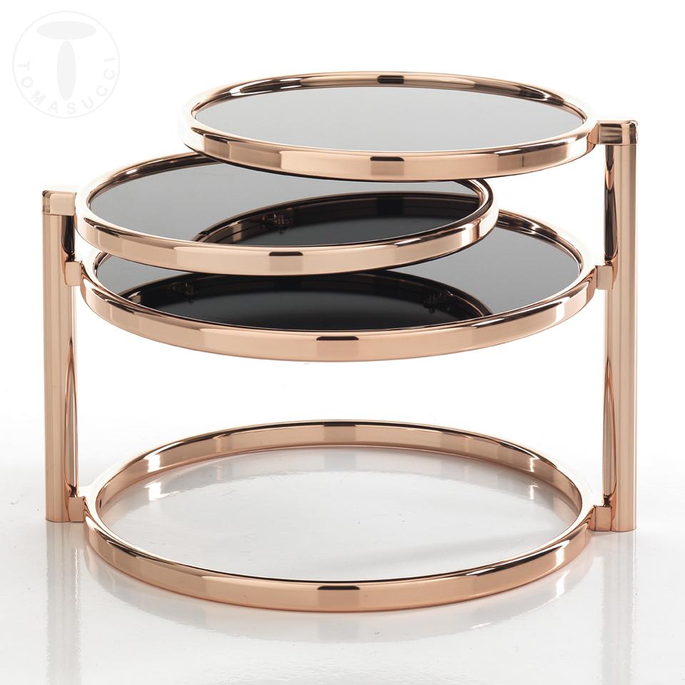 Tavolino TREE RINGS COPPER