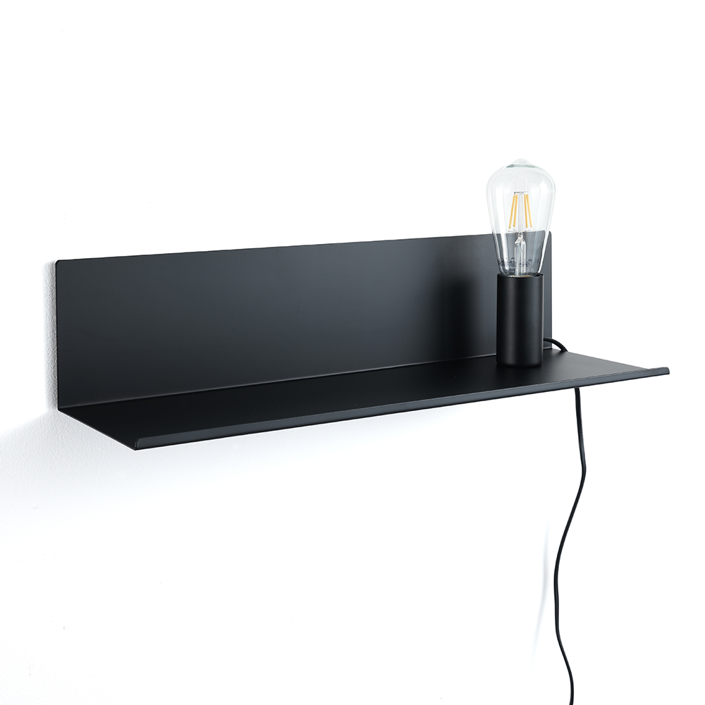 Lampada / mensola / comodino MAGIC SHELF BLACK