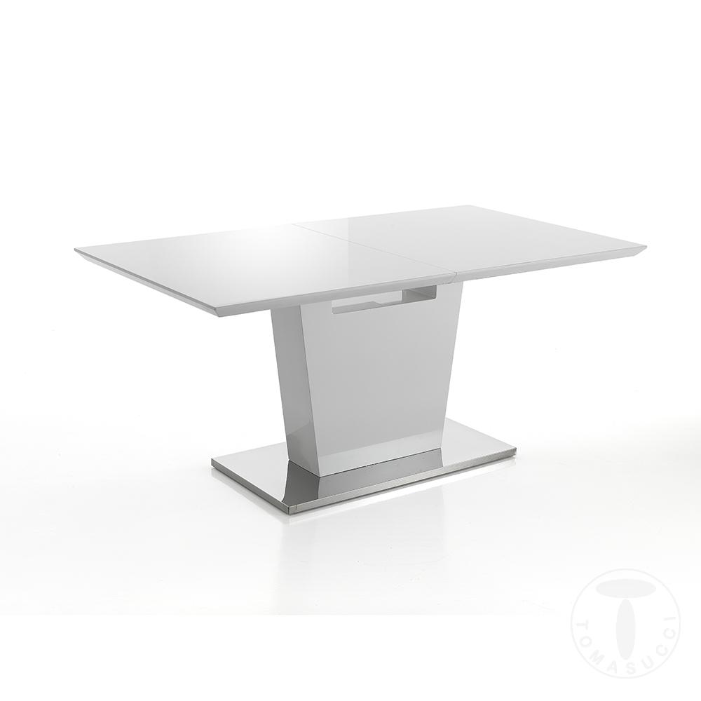 Tavolo Allungabile Key In Metallo E Vetro TempratoBianco