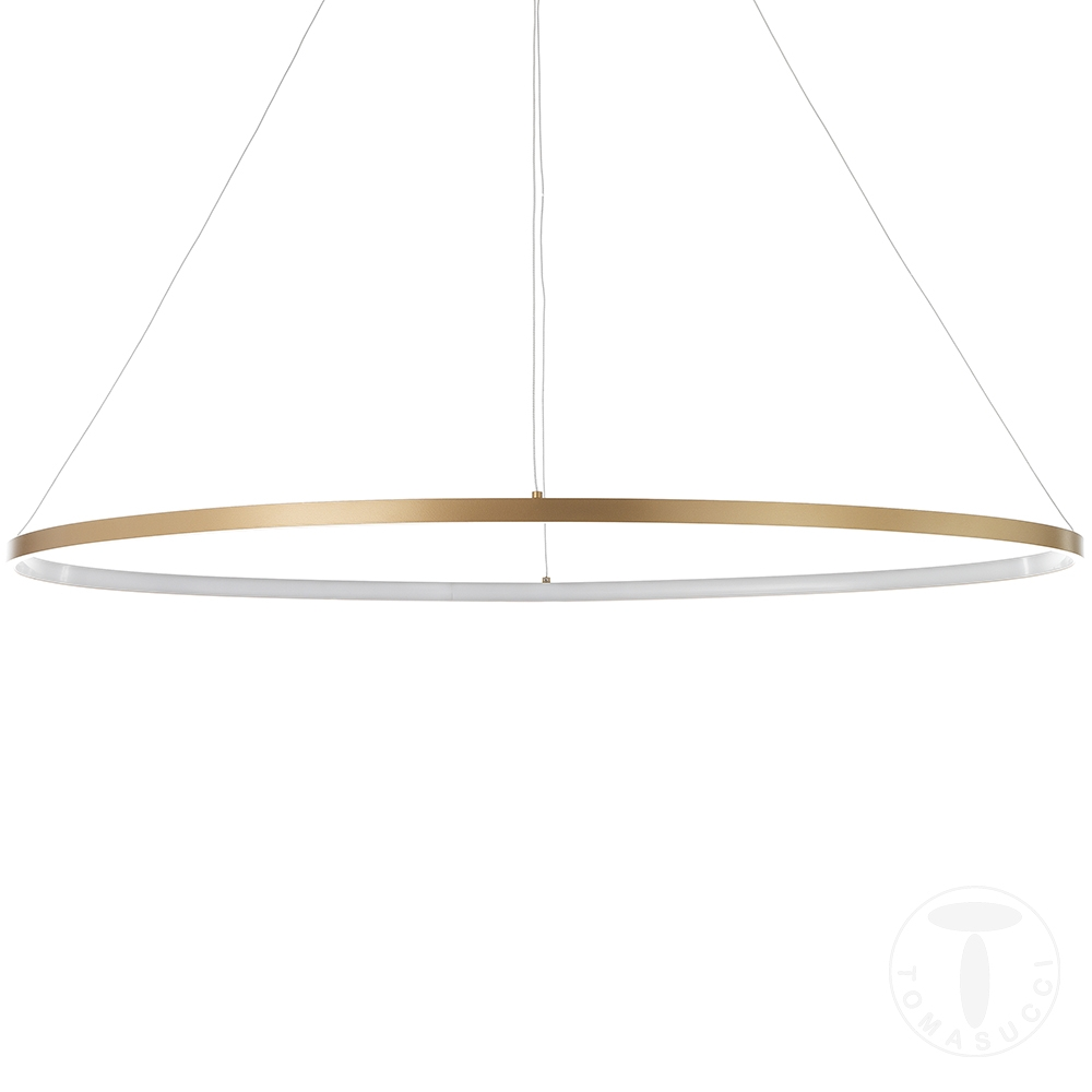 Lampadario OVAL RING GOLD