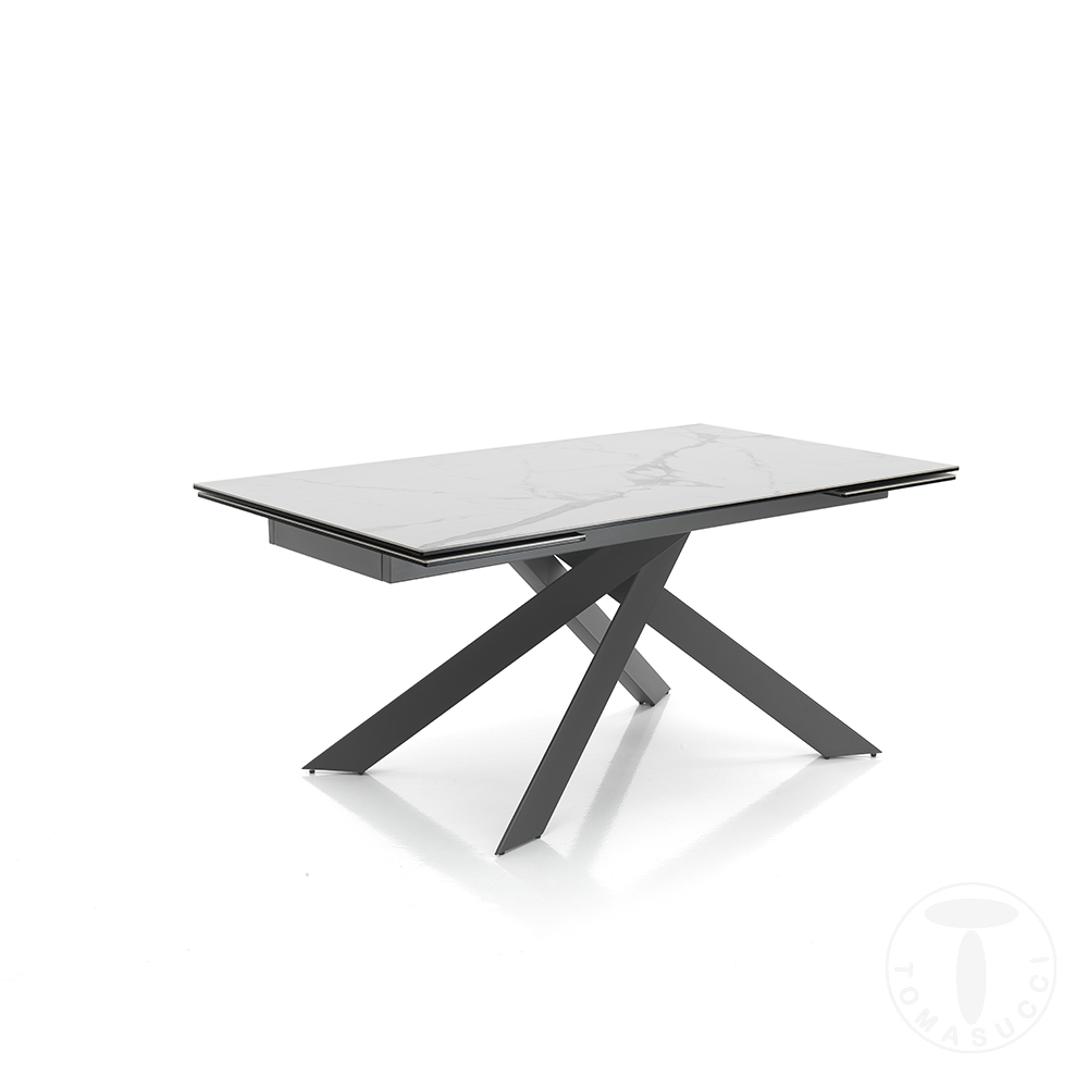 tavolo allungabile GIUKI MATT WHITE MARBLE