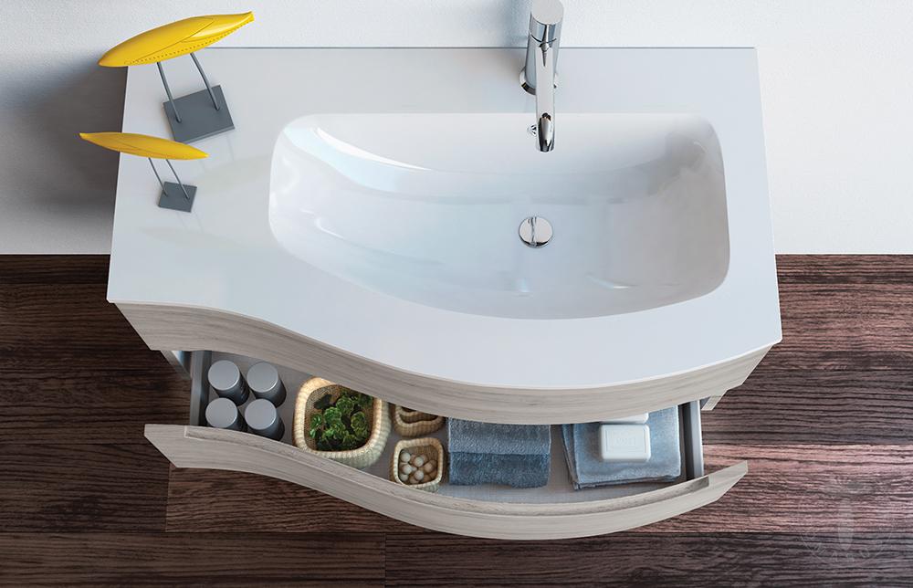 Mobile bagno SURF DX 90 Rovere Grigio