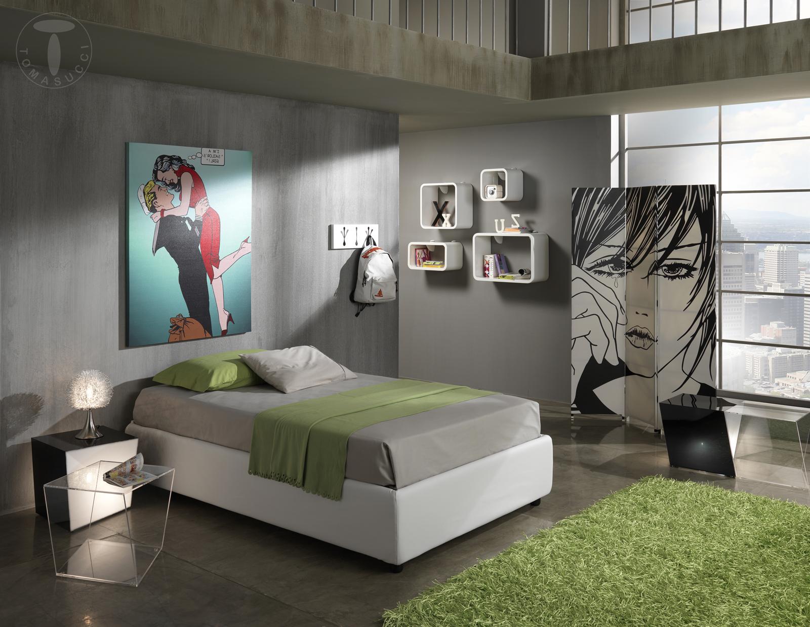 Letti una piazza a mezzo letto contenitore 1 piazza e mezzo sommier 120 - Dimensioni letto 1 piazza e mezzo ...