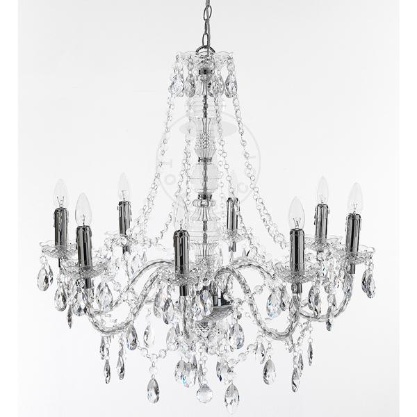 8 lights chandelier JEWEL TRASPARENTE