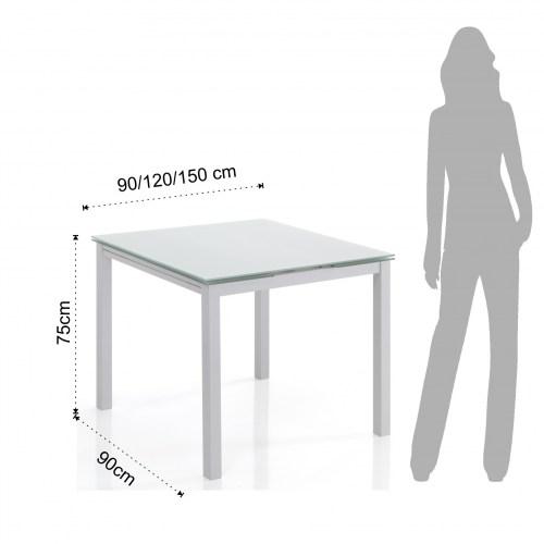Tavolo Quadrato Allungabile Bianco.Tavoli Fissi E Allungabili Tavolo Quadrato Allungabile New Daily